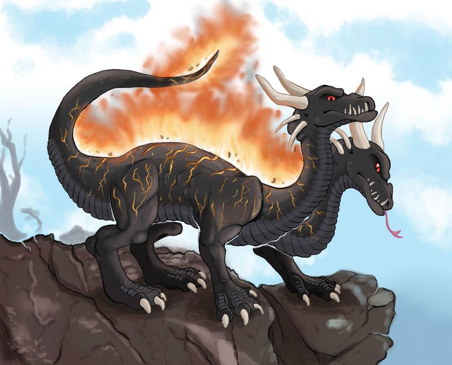 Fire Dragon by Albino-Phoenix