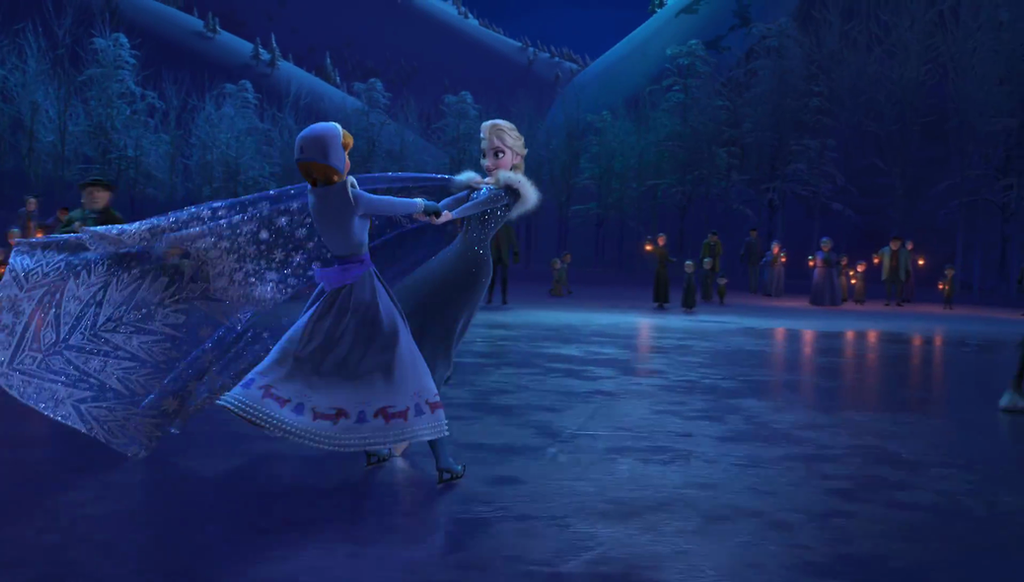 Olaf Frozen Adventure Elsa And Anna On Ice By