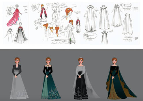The Art of Frozen 2: Queen Anna's outfit
