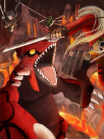 Attack on Legendary Pokemon by Dusklight-07