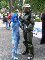 Supanova 2009 Cortana and MC. by Galener