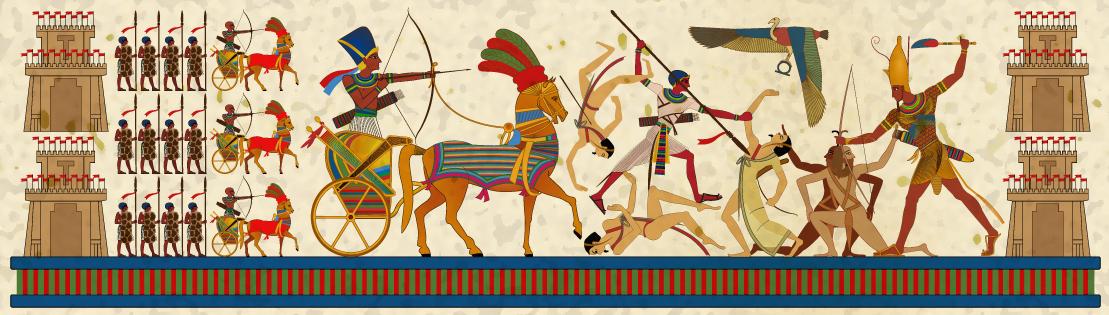 Ancient Egyptians At War   Pharaoh Wall Art By Tariqsobh