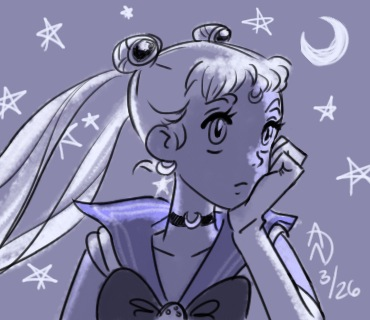 Somber Sailormoon Sketch by YumeSprite