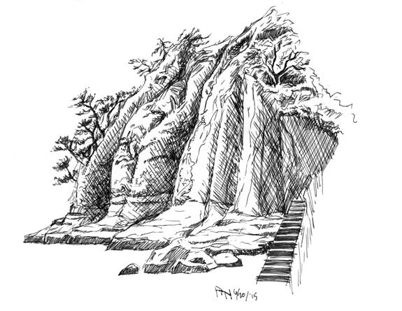 Sketch of Inamuragasaki by YumeSprite