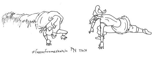 Freeze Frame Sketch - Legend of Korra by YumeSprite