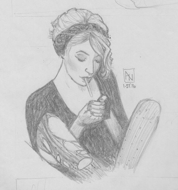 Sketch of a Punk Smoker by YumeSprite