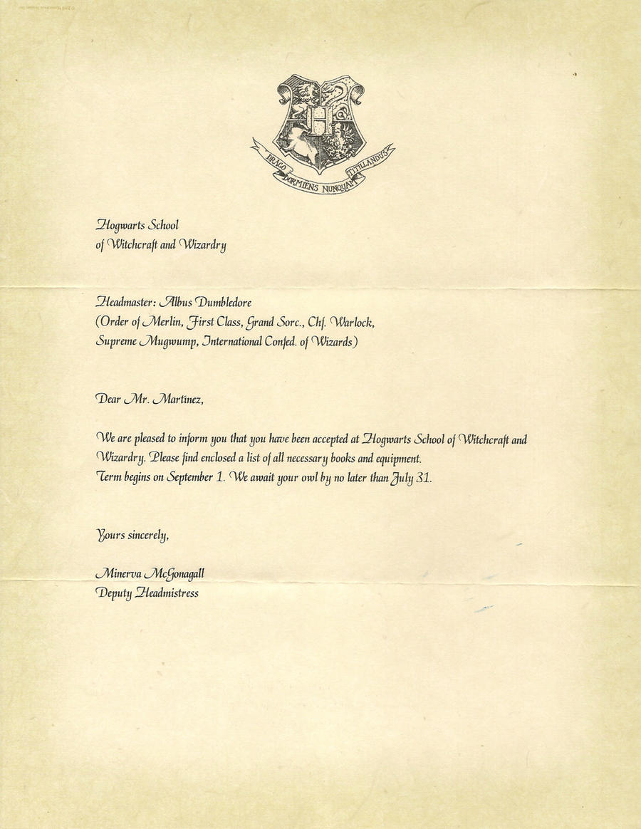 Hogwarts acceptance letter p 1 by javi3108 on deviantart for Letter from hogwarts template