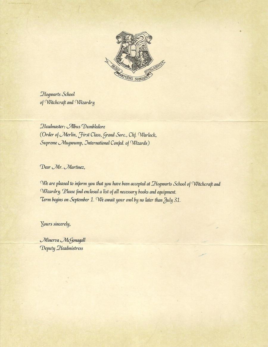hogwarts acceptance letter p 1 by javi3108 on deviantart. Black Bedroom Furniture Sets. Home Design Ideas