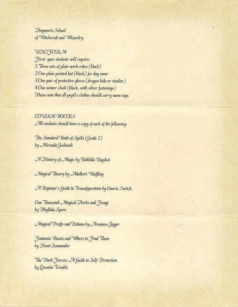 Hogwarts Acceptance Letter P2 By Javi3108 On DeviantArt