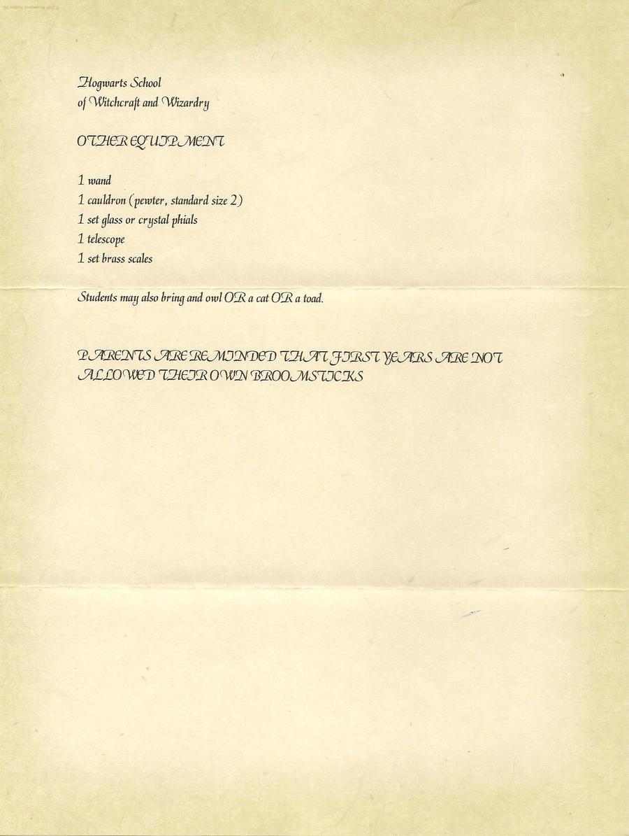 Hogwarts Acceptance Letter P 3 By Javi3108 On Deviantart