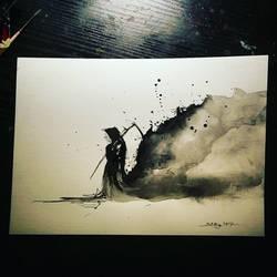 Grim reaper painting