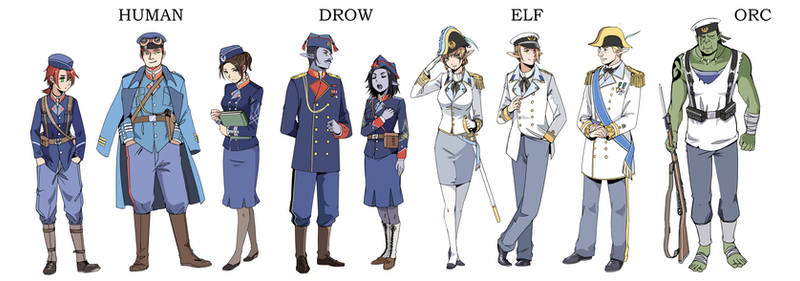 Some industry-era fantacy military uniform design by Lleu-Momiji
