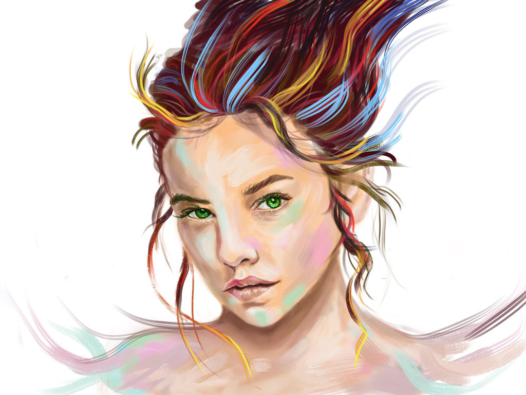 Digital portrait  by LonDiamond