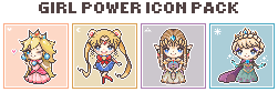Girl Power Icon Pack by papercharm