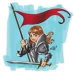 Joan of Arc - Sketch Dalies by RehanaKn