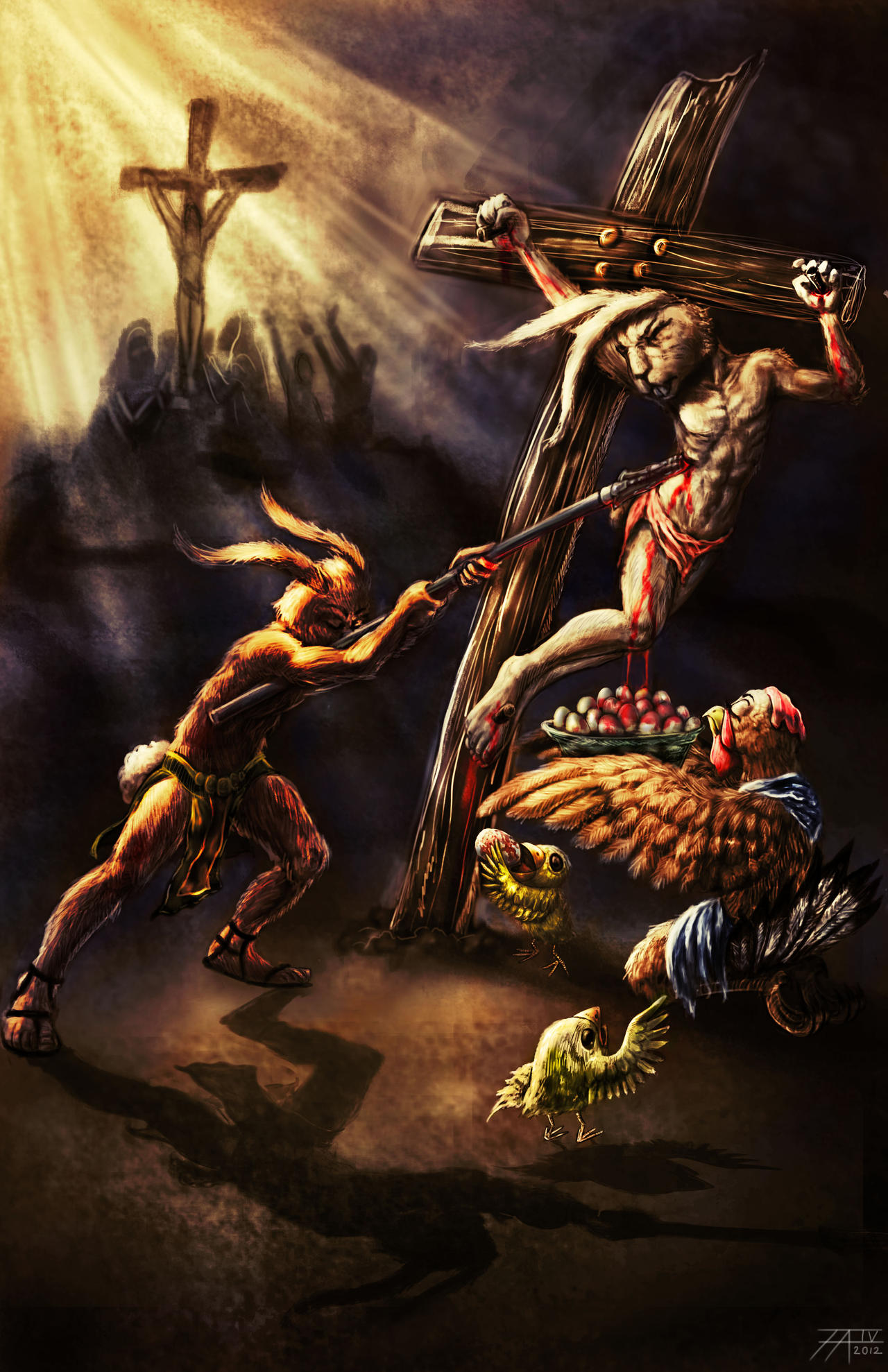 The Truth About Easter: Cottontail's Crucifixion by ArtOfWarStudios