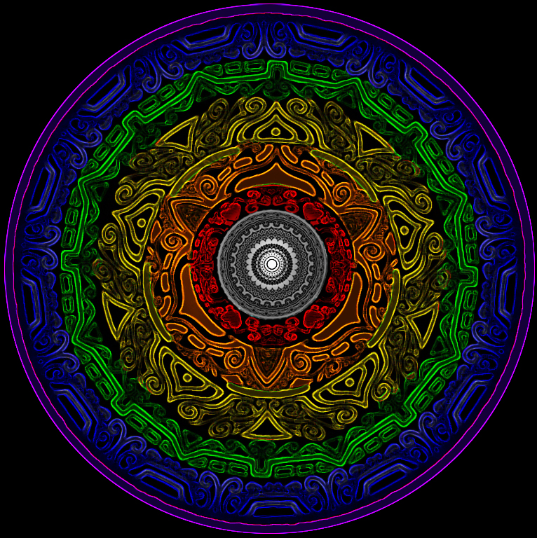 Fibonacci and Chakra test by ArtOfWarStudios