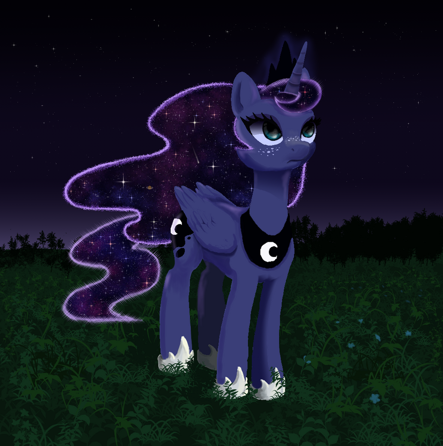 Luna In The Meadow