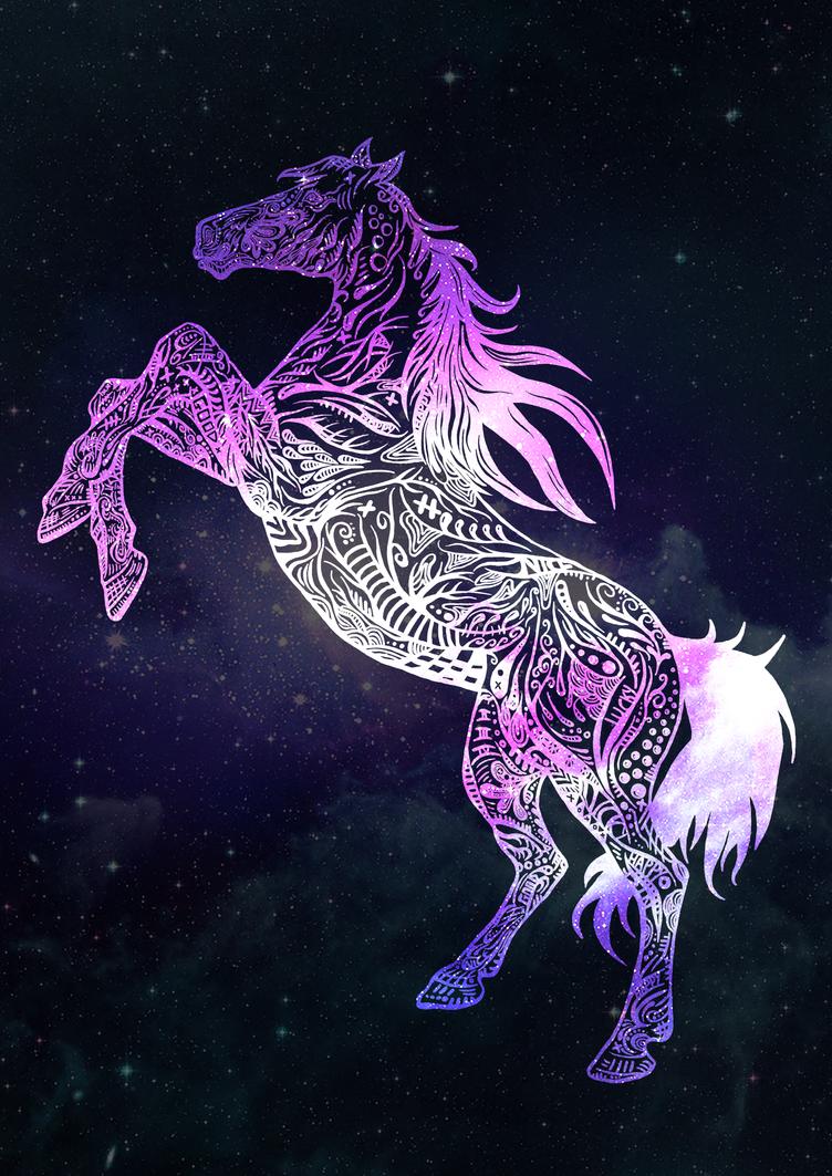 Galaxy Horse By Kyshoot On Deviantart