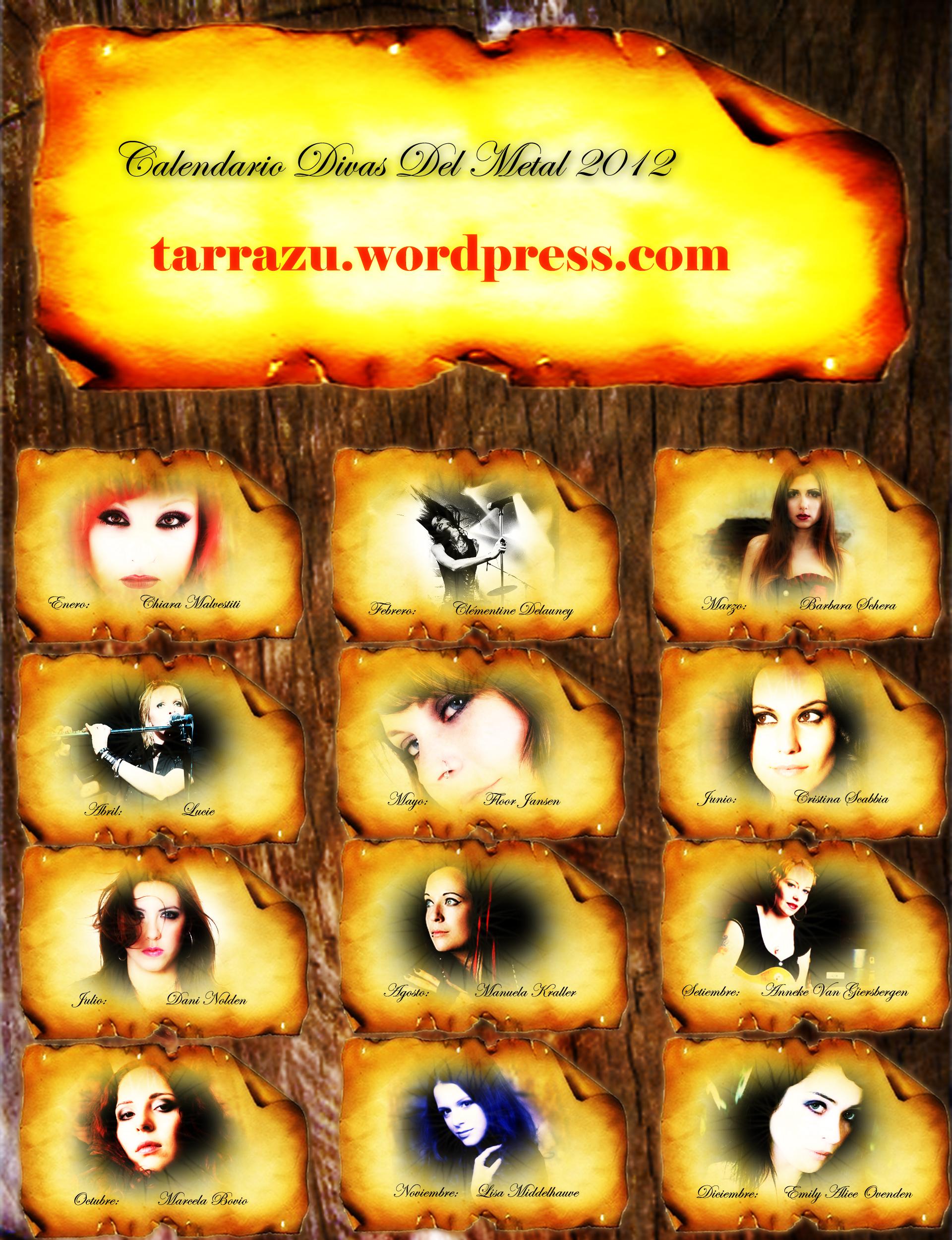 Poster Calendario Divas Del Metal 2012