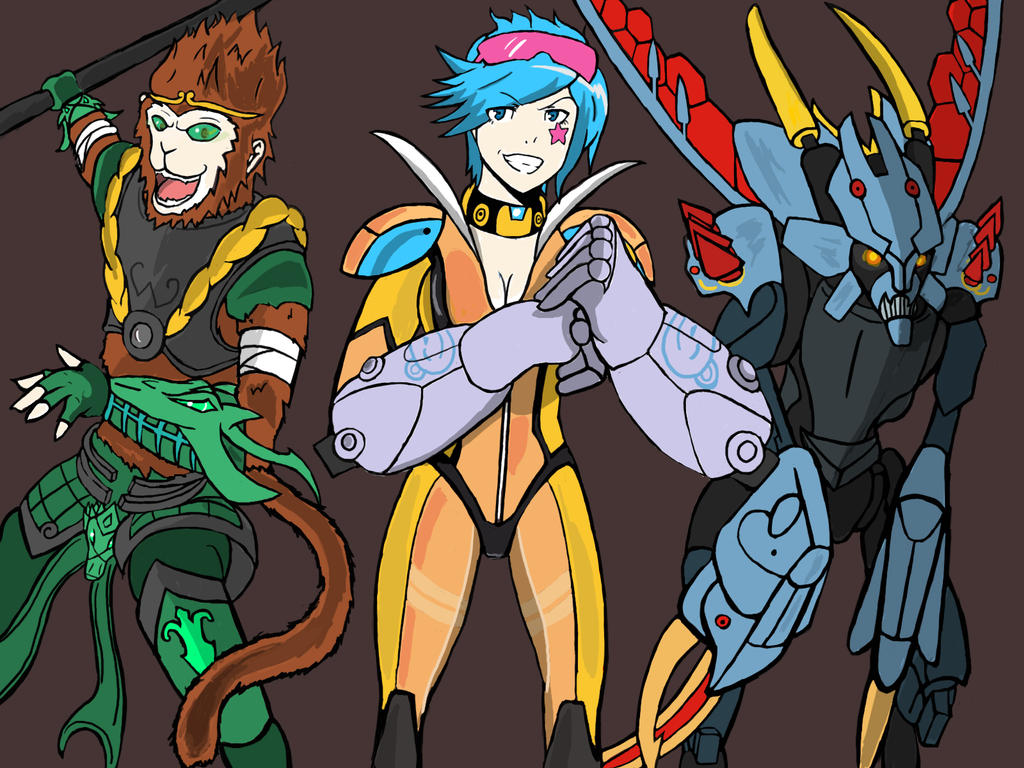 Jade Wukong, Neon Strike Vi, and Mecha Kha'zix by ...