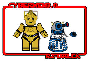 Cybermen3.0 and R2-Dalek by InsidiousYoink