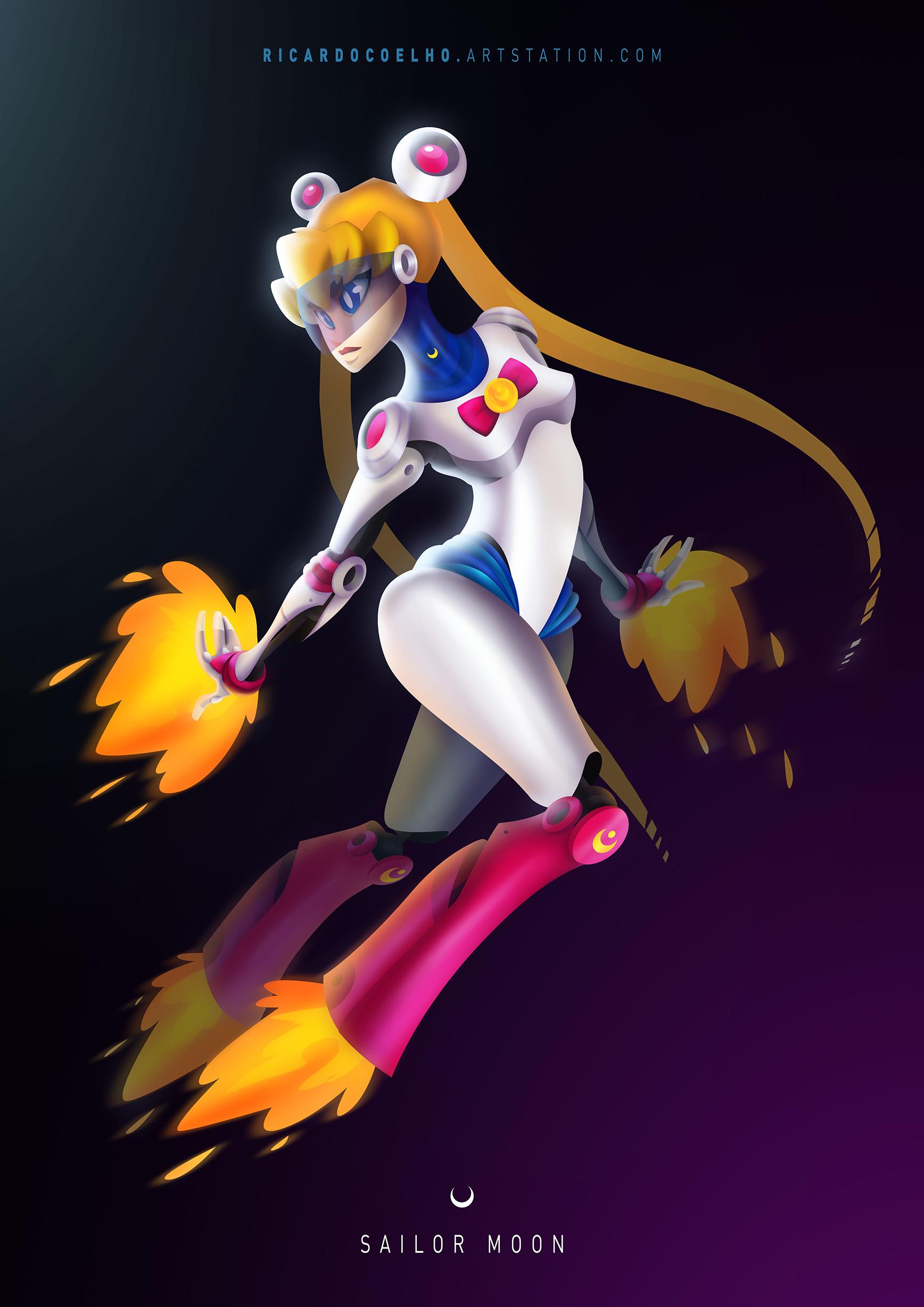 Rocket Sailor Moon by RicardoCoelhoArt