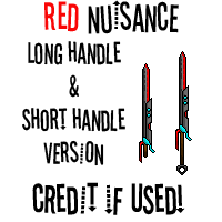 Red Nuisance swords by MikX256