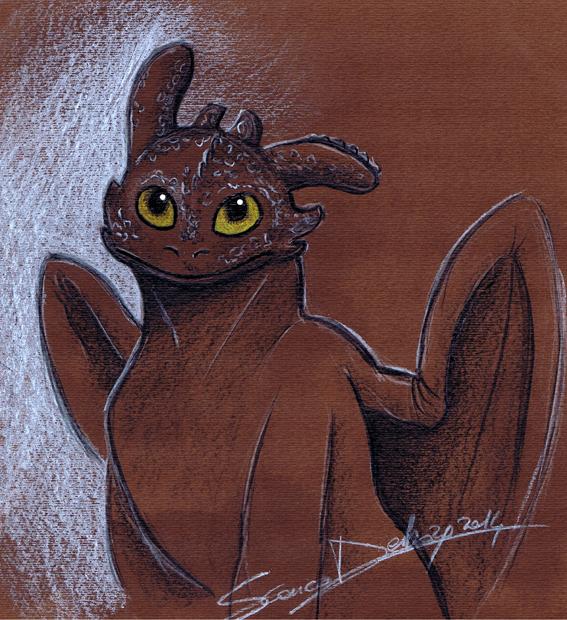 Dragon Trainer Sdentato by lunapallida
