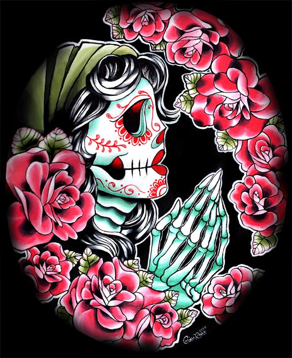 Dia de los Muertos by misscarissarose