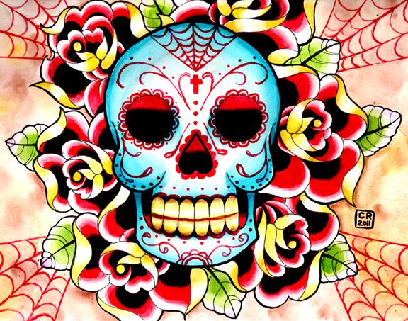 Grab The Rat!: Skulls and Flowers