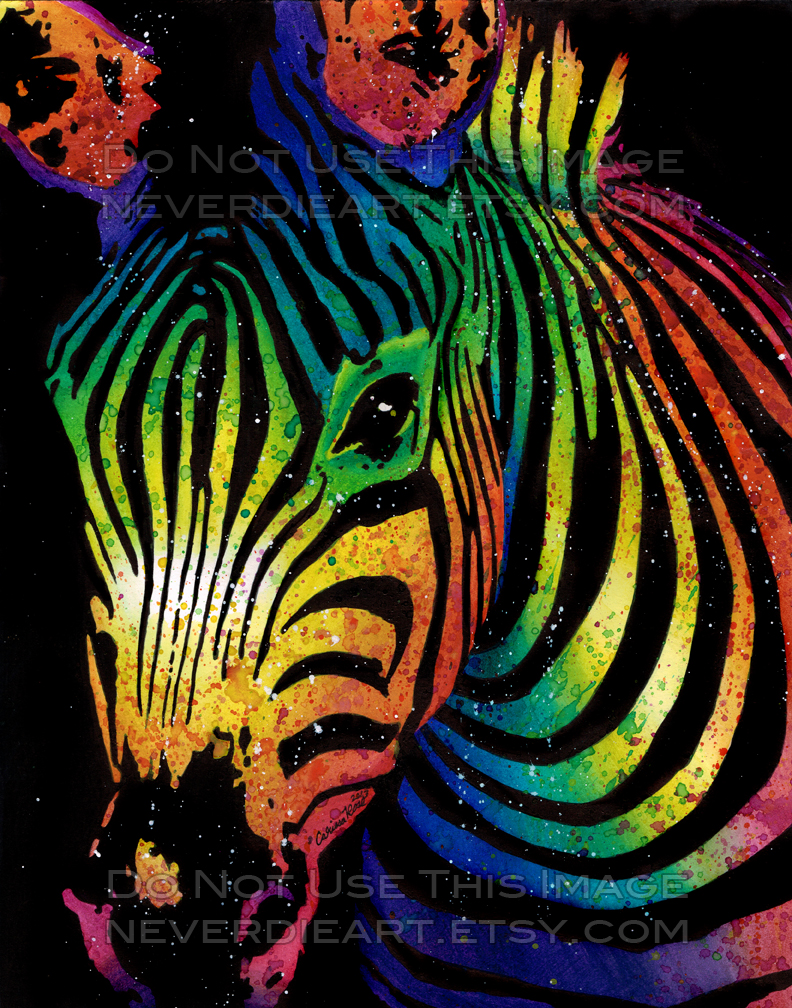 Colorful Zebra Print Nail Art Tutorial: Zebra By Misscarissarose On DeviantArt