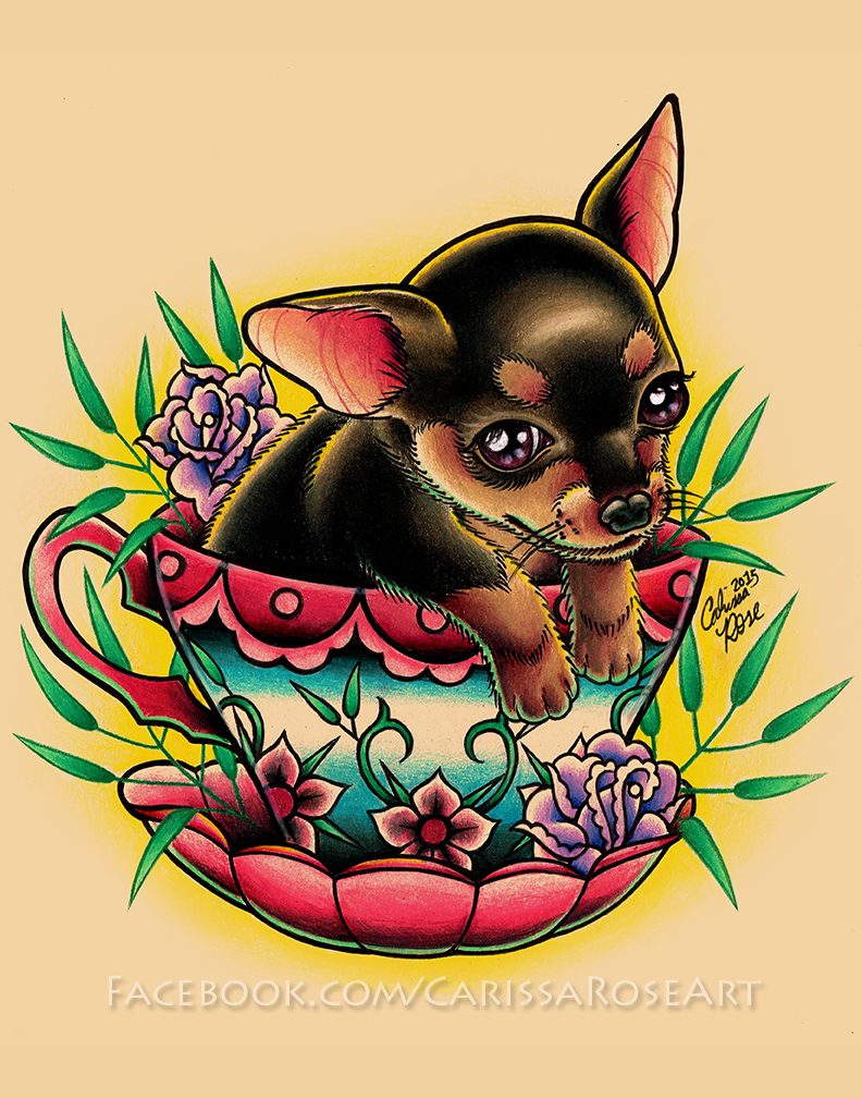 Teacup Pup by misscarissarose