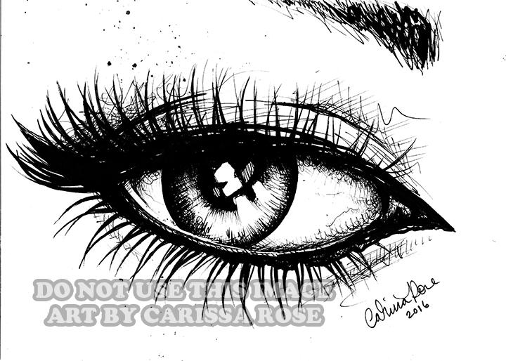 Inktober 2016 #2 - Eye by misscarissarose