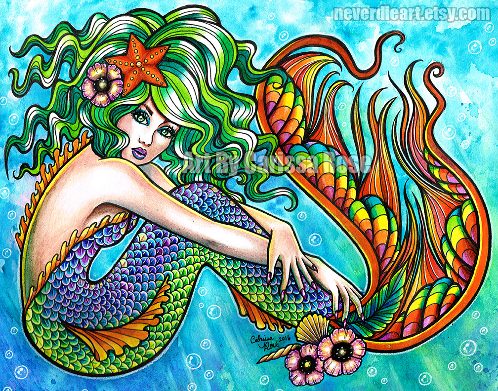 Mermaid by misscarissarose