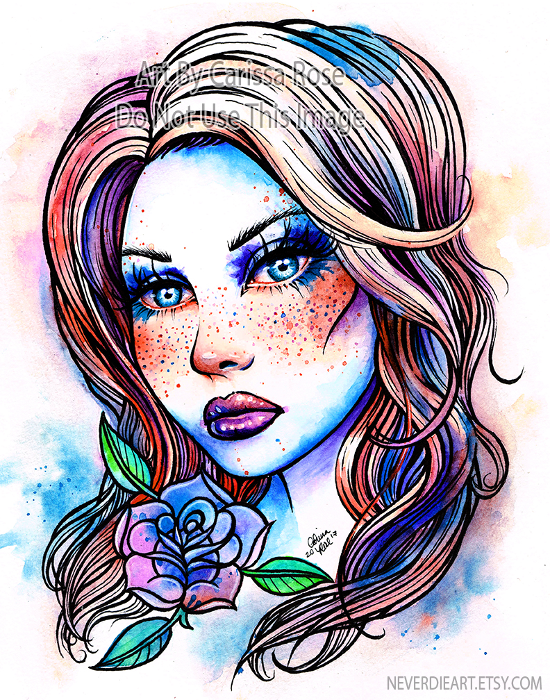 Watercolor Freckles by misscarissarose