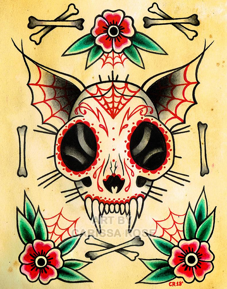 Cat Skull by misscarissarose