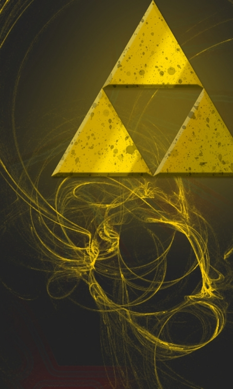 The Legend Of Zelda Triforce Wallpaper For Phone By Amaradsaya On