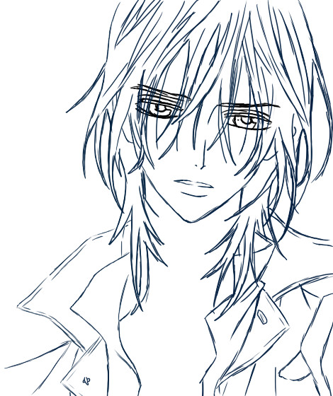 anime vampire knight coloring pages - photo#32