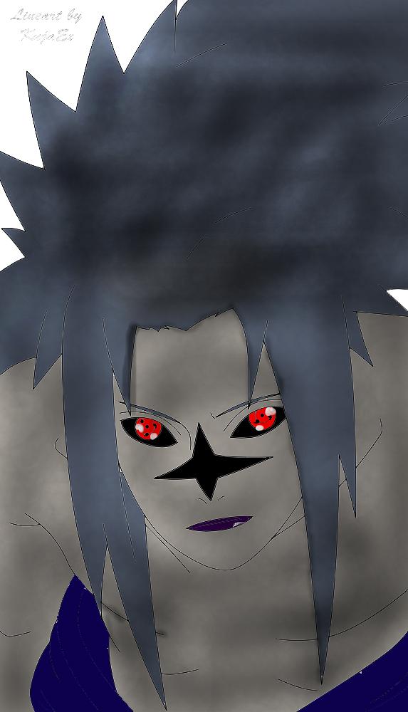 how to draw sasuke curse mark level 3
