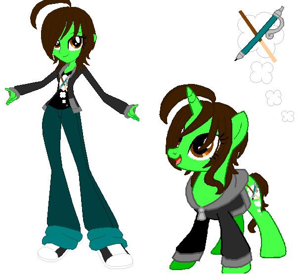 MLP Unicorn And Equestrian Girl SkylorXX30 by SkylorXX30