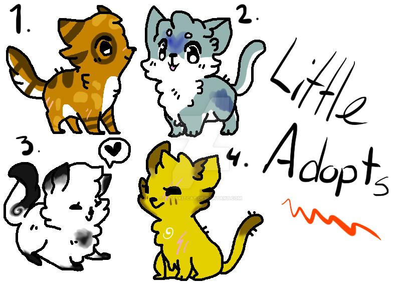 Little Adopts - Chibi Warrior Cats 1 LEFT by Elizakitcat ...  Warrior Cat Chibi