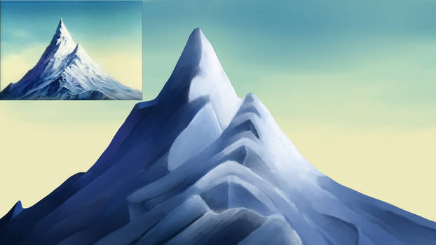 Painting Study - Mount Moon from JESP