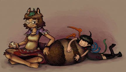 mamizou and nue