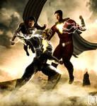Superman and Shazam vs Black Adam wallpaper