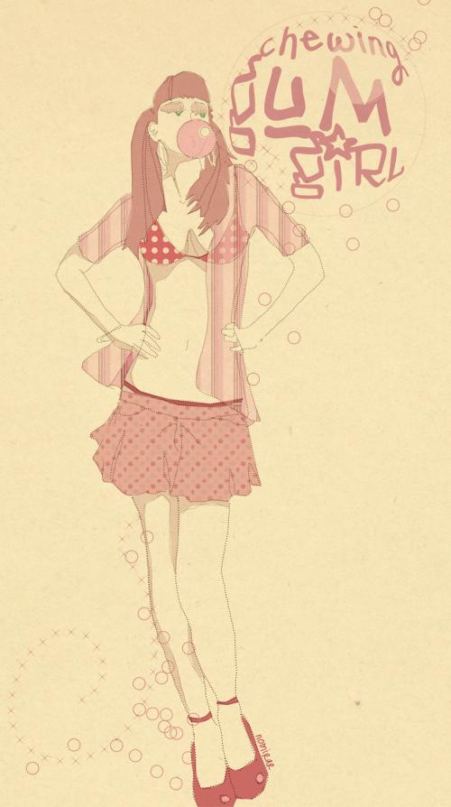 Chewinggumgirl by noMirar