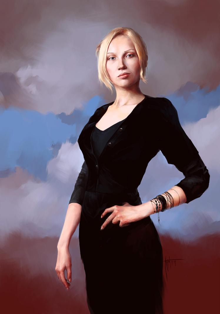 Anton Phoenix - Royal portrait in black by antonphoenix