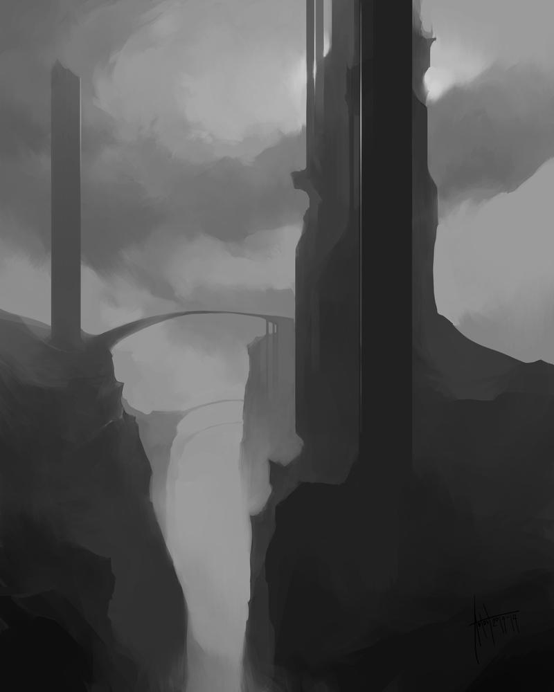 Anton Phoenix - Desolate tower by antonphoenix