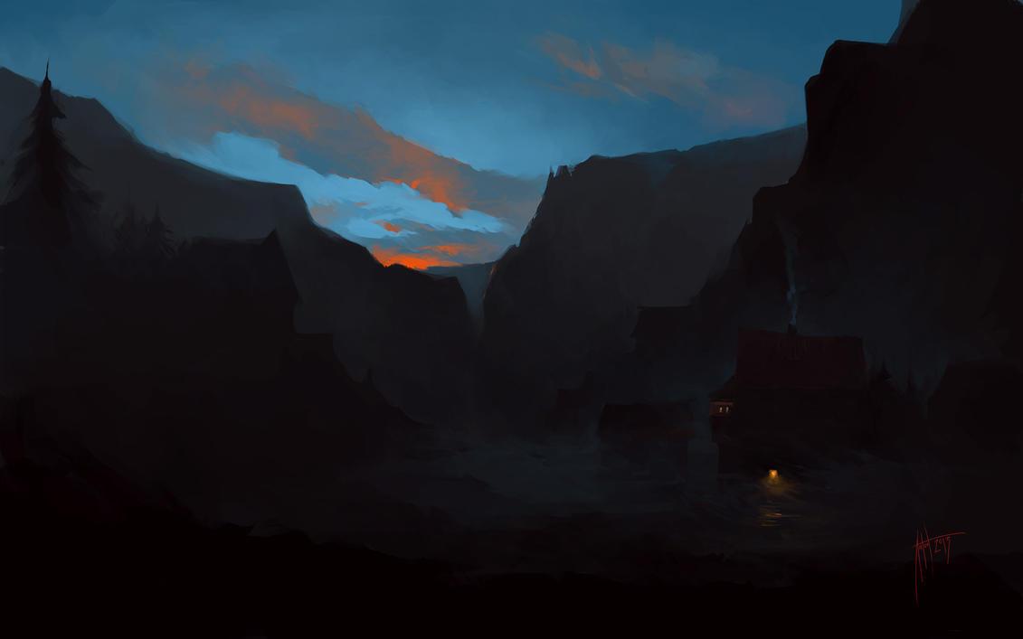 Anton Phoenix - Cabin in the mountains by antonphoenix