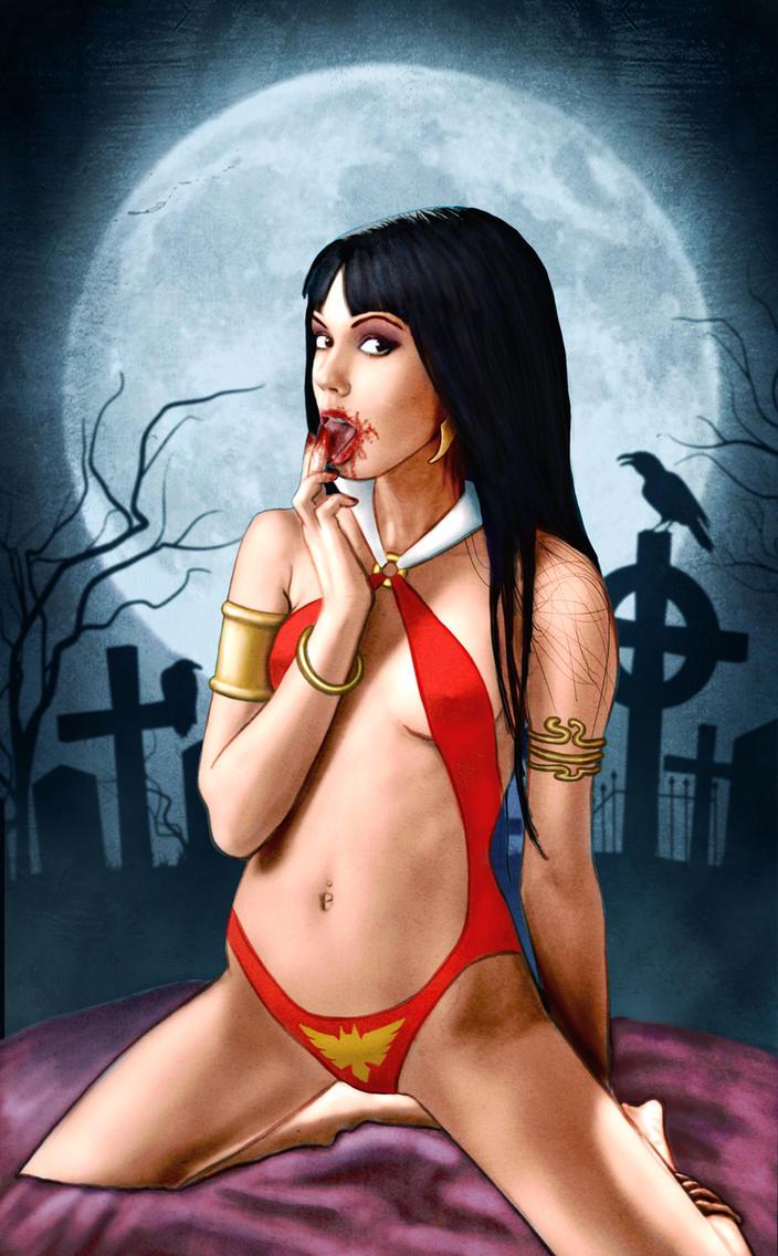 Vampirella loves blood by Blissternal